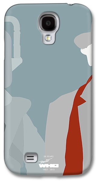 Tardis Galaxy S4 Cases - Doctor Who 50th Anniversary Poster Set Seventh Doctor Galaxy S4 Case by Jeff Bell