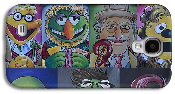 4th Paintings Galaxy S4 Cases - Doctor Who Muppet Mash-up Galaxy S4 Case by Lisa Leeman