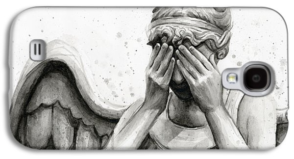 Doctor Who Weeping Angel Don't Blink Galaxy S4 Case by Olga Shvartsur