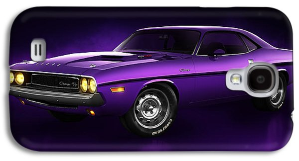 Challenger Galaxy S4 Cases - Dodge Challenger Hemi - Shadow Galaxy S4 Case by Marc Orphanos