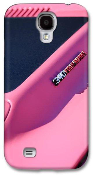 Challenger Galaxy S4 Cases - Dodge Challenger RT Hood Emblem Galaxy S4 Case by Jill Reger