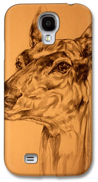 Nature Study Drawings Galaxy S4 Cases - Doe sketch Galaxy S4 Case by Derrick Higgins