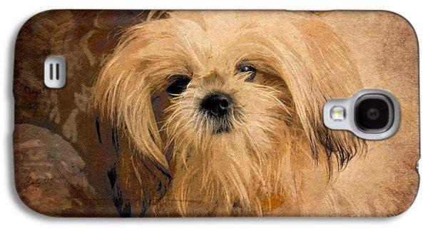 Dogs Digital Art Galaxy S4 Cases - Dog Art  Galaxy S4 Case by Aimelle