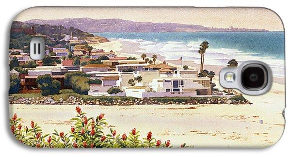 Beach House Galaxy S4 Cases - Dog Beach Del Mar Galaxy S4 Case by Mary Helmreich