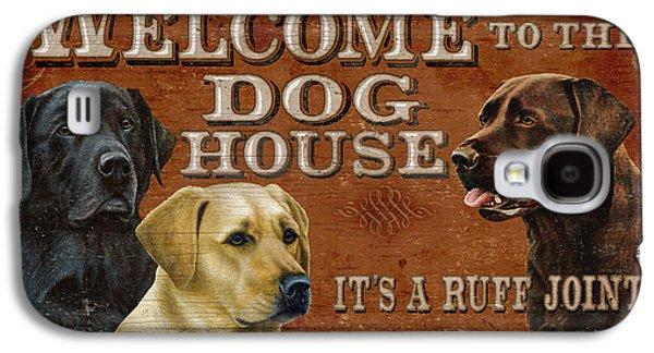 Chocolate Labrador Retriever Galaxy S4 Cases - Dog House Galaxy S4 Case by JQ Licensing