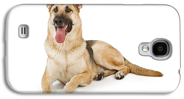 Guard Dog Galaxy S4 Cases - Dog Isolated on White Galaxy S4 Case by Susan  Schmitz