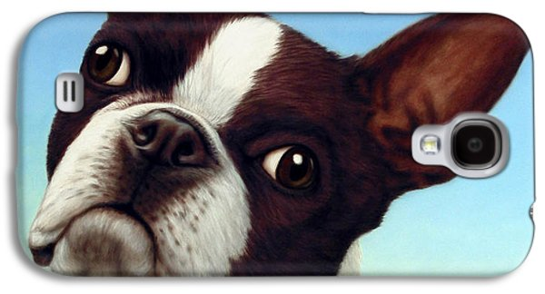 Boston Paintings Galaxy S4 Cases - Dog-Nature 4 Galaxy S4 Case by James W Johnson