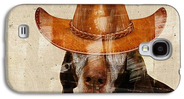 Personality Galaxy S4 Cases - Dog Personalities 01 Cow-Boy Galaxy S4 Case by Variance Collections