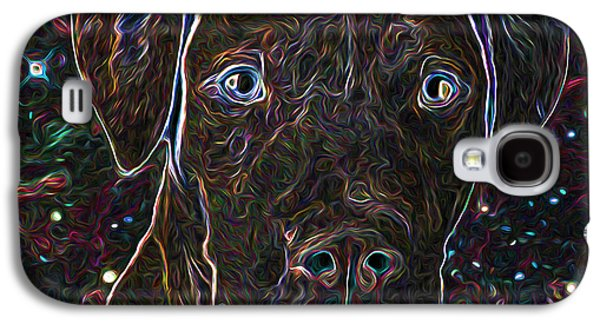 Dog Close-up Paintings Galaxy S4 Cases - Dog portrait Galaxy S4 Case by Lanjee Chee