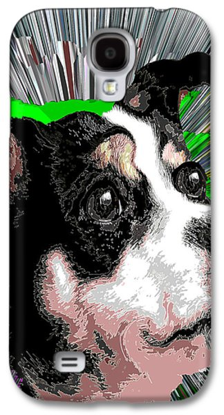 Knockout Digital Art Galaxy S4 Cases - Dog Rat Terrier Knockout Galaxy S4 Case by Dalon Ryan