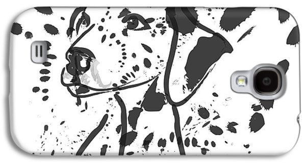 Dogs Galaxy S4 Cases - Dog Spot Galaxy S4 Case by Go Van Kampen