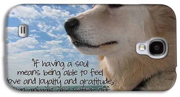 Puppies Digital Art Galaxy S4 Cases - Doggie Soul Galaxy S4 Case by Peggy J Hughes