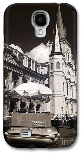 Lucky Dogs Galaxy S4 Cases - Dogs in the Square infrared Galaxy S4 Case by John Rizzuto