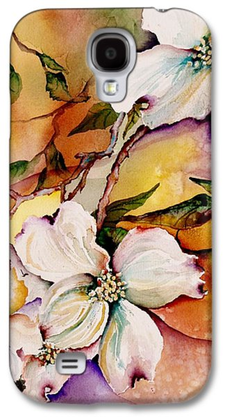 Botanical Galaxy S4 Cases - Dogwood in Spring Colors Galaxy S4 Case by Lil Taylor