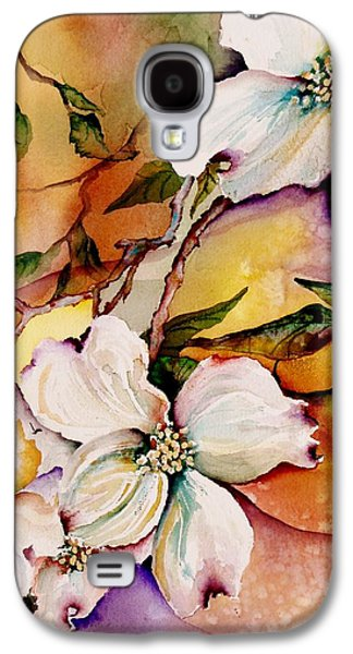 Blooms Galaxy S4 Cases - Dogwood in Spring Colors Galaxy S4 Case by Lil Taylor