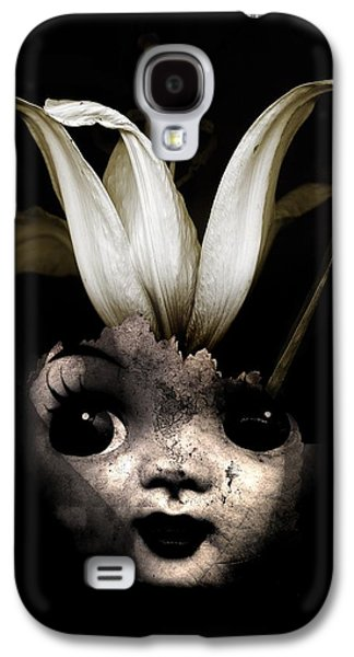Creepy Galaxy S4 Cases - Doll flower Galaxy S4 Case by Johan Lilja