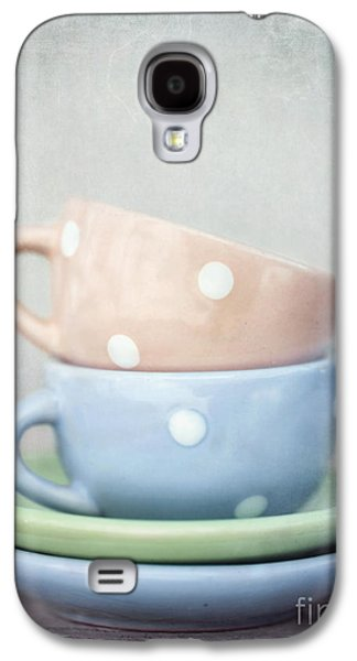 Coffee Drinking Galaxy S4 Cases - Dolls China Galaxy S4 Case by Priska Wettstein