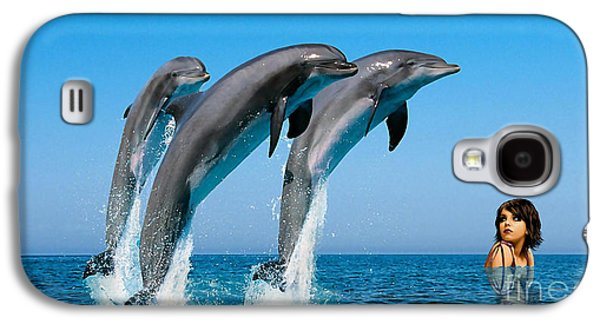 Dolphin Galaxy S4 Cases - Dolphin Dreams Galaxy S4 Case by Marvin Blaine