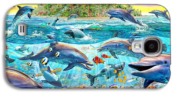 Dolphin Digital Galaxy S4 Cases - Dolphin Reef Galaxy S4 Case by Adrian Chesterman