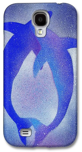 Dolphin Galaxy S4 Cases - Dolphins 3 Galaxy S4 Case by Hakon Soreide