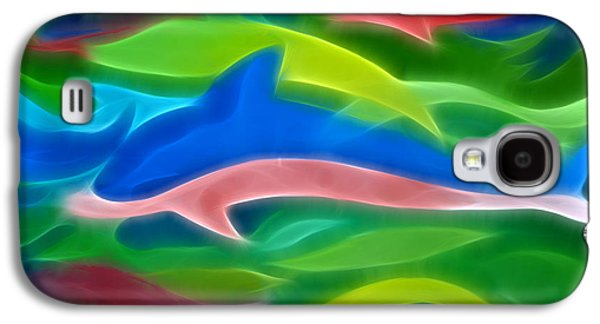 Dolphin Digital Galaxy S4 Cases - Dolphins Galaxy S4 Case by Ann Croon