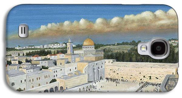 Byzantine Paintings Galaxy S4 Cases - Dome of the Rock Galaxy S4 Case by Austin Burke