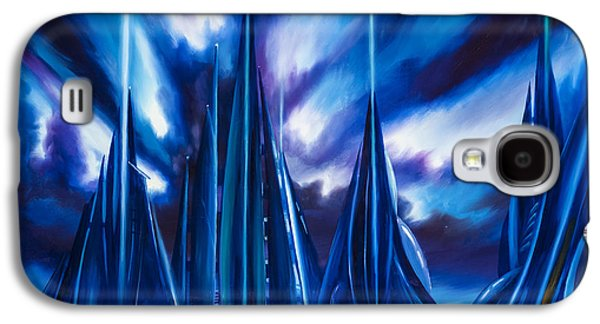 Stellar Paintings Galaxy S4 Cases - Domed City Galaxy S4 Case by James Christopher Hill