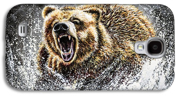 Growling Galaxy S4 Cases - Dominance Galaxy S4 Case by Teshia Art