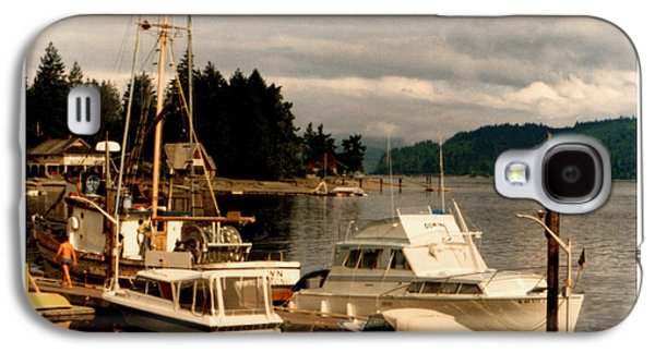 Boats At Dock Galaxy S4 Cases - Domino at Alderbrook on Hood Canal Galaxy S4 Case by Jack Pumphrey