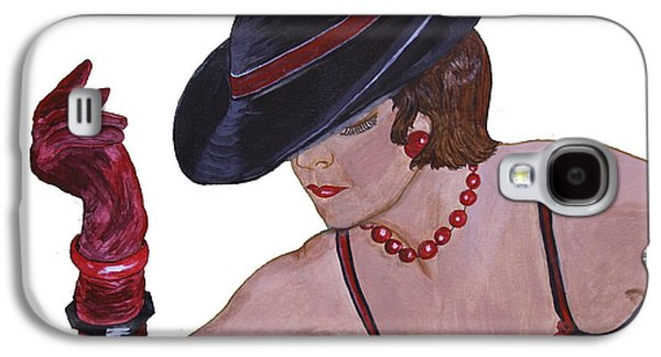 First Lady Mixed Media Galaxy S4 Cases - Donnas Hat Galaxy S4 Case by Donna Coupe