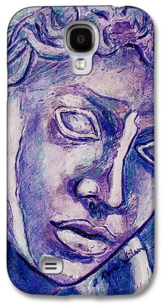 Bas Relief Reliefs Galaxy S4 Cases - Dont Blink Galaxy S4 Case by D Renee Wilson
