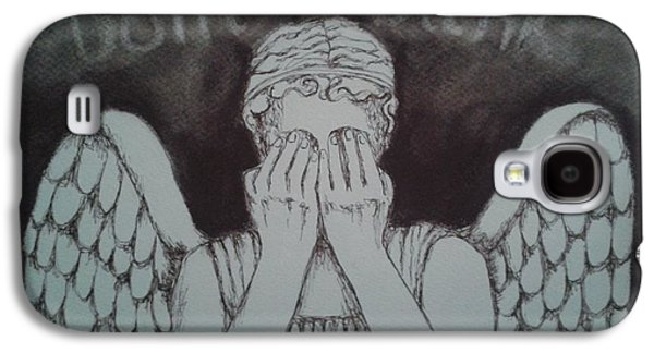 Weeping Drawings Galaxy S4 Cases - Dont Blink Galaxy S4 Case by Nina Shilling