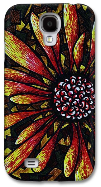 Earth Tones Drawings Galaxy S4 Cases - Doodle Outside the Box Galaxy S4 Case by Christi Barrett