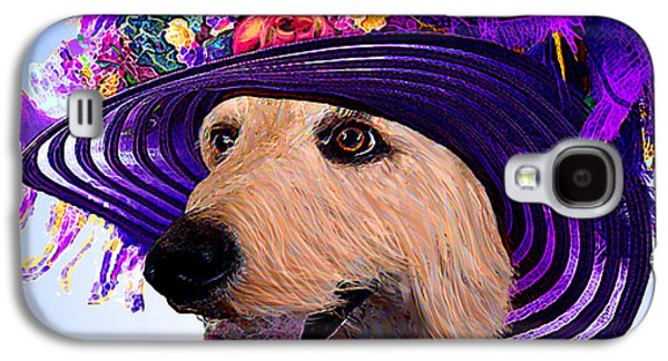 Puppy Digital Art Galaxy S4 Cases - Doodle To The Derby Galaxy S4 Case by Michele  Avanti