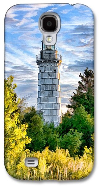Chicago Paintings Galaxy S4 Cases - Door County Cana Island Beacon Galaxy S4 Case by Christopher Arndt