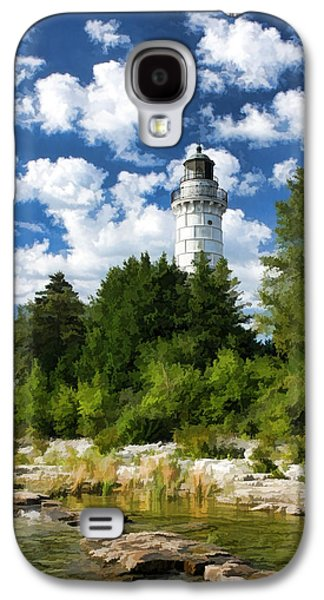 Chicago Paintings Galaxy S4 Cases - Cana Island Lighthouse Cloudscape in Door County Galaxy S4 Case by Christopher Arndt
