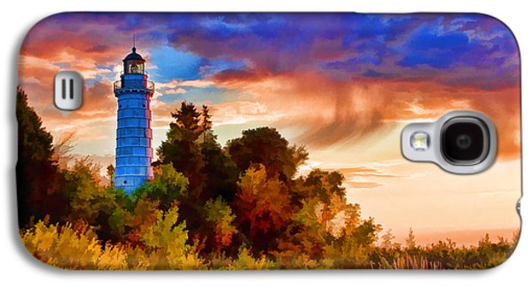 Chicago Paintings Galaxy S4 Cases - Door County Cana Island Wisp Galaxy S4 Case by Christopher Arndt