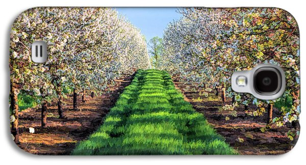 Door County Cherry Blossoms Row Galaxy S4 Case by Christopher Arndt