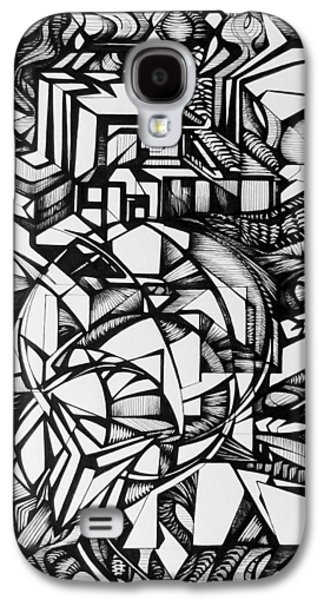 Abstract Digital Drawings Galaxy S4 Cases - Door Galaxy S4 Case by The Door Project