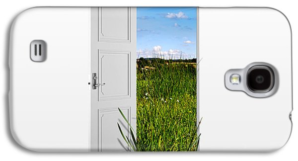 Building Drawings Galaxy S4 Cases - Door to Nature Galaxy S4 Case by Aged Pixel