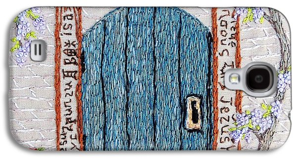 Jesus Tapestries - Textiles Galaxy S4 Cases - Door with many languages Galaxy S4 Case by Stephanie Callsen