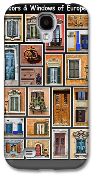 Sienna Italy Galaxy S4 Cases - Doors and Windows of Europe Galaxy S4 Case by David Letts