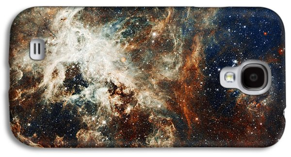 Space Paintings Galaxy S4 Cases - Doradus Nebula Galaxy S4 Case by Celestial Images