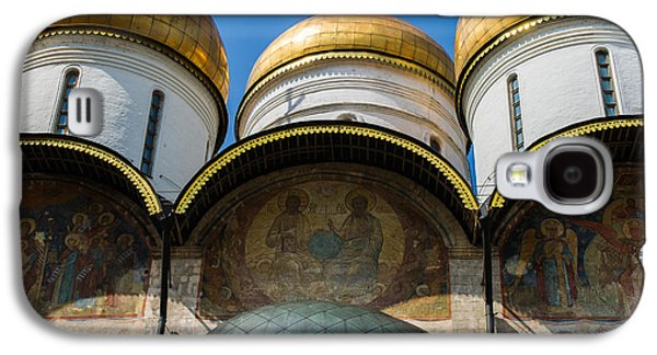 Russian Icon Galaxy S4 Cases - Dormition Cathedral - Square Galaxy S4 Case by Alexander Senin