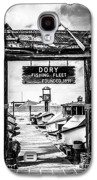 Dory Fishing Fleet Market Black And White Picture Galaxy S4 Case by Paul Velgos