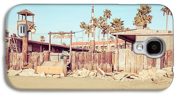 Historical Pictures Galaxy S4 Cases - Dory Fishing Fleet Market Newport Beach Panorama Galaxy S4 Case by Paul Velgos