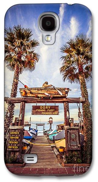 Fleeting Galaxy S4 Cases - Dory Fishing Fleet Market Picture Newport Beach Galaxy S4 Case by Paul Velgos