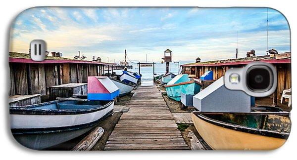 Fleeting Galaxy S4 Cases - Dory Fishing Fleet Newport Beach California Galaxy S4 Case by Paul Velgos