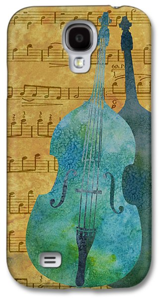 Celebrities Mixed Media Galaxy S4 Cases - Double Bass Score Galaxy S4 Case by Jenny Armitage