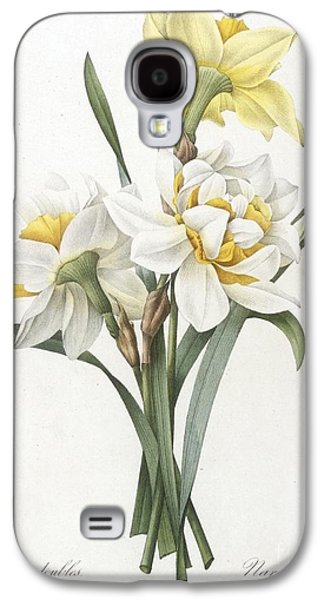 Recently Sold -  - Botanical Galaxy S4 Cases - Double Daffodil Galaxy S4 Case by Pierre Joseph Redoute